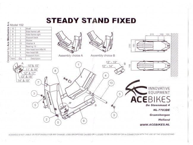 Motorsteun Steadystand Fixed | Afbeelding 3 | AHW Parts