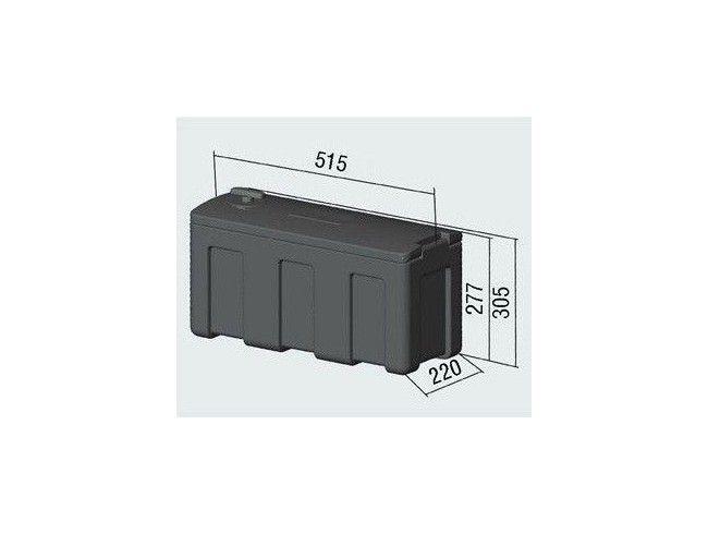 Bagagebox 510x220x272 scharnier korte zijde   Afbeelding 3   AHW Parts
