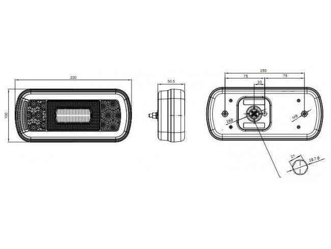 Achterlicht Fristom LED links | Afbeelding 2 | AHW Parts