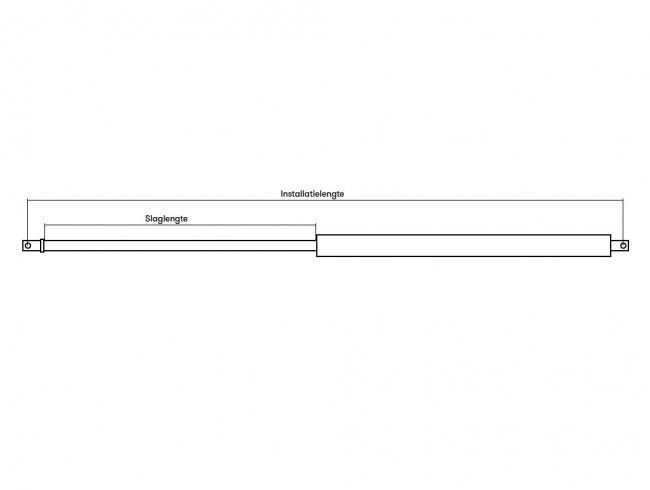 Gasdrukveer 1000N | Afbeelding 2 | AHW Parts