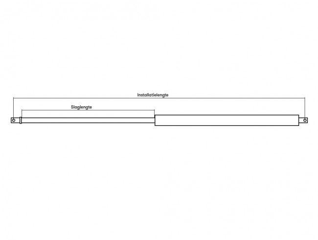 Gasdrukveer 1500N | Afbeelding 2 | AHW Parts