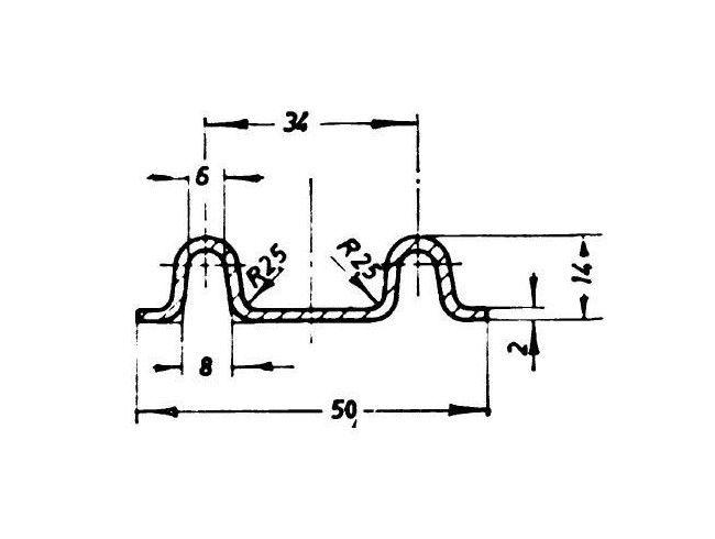Klepscharnier 61 cm | Afbeelding 2 | AHW Parts