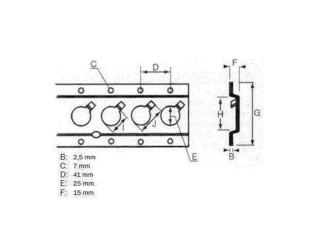 Bindrail per meter   Afbeelding 2   AHW Parts