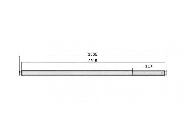 Telescoopstang voor ladingrail | Afbeelding 2 | AHW Parts